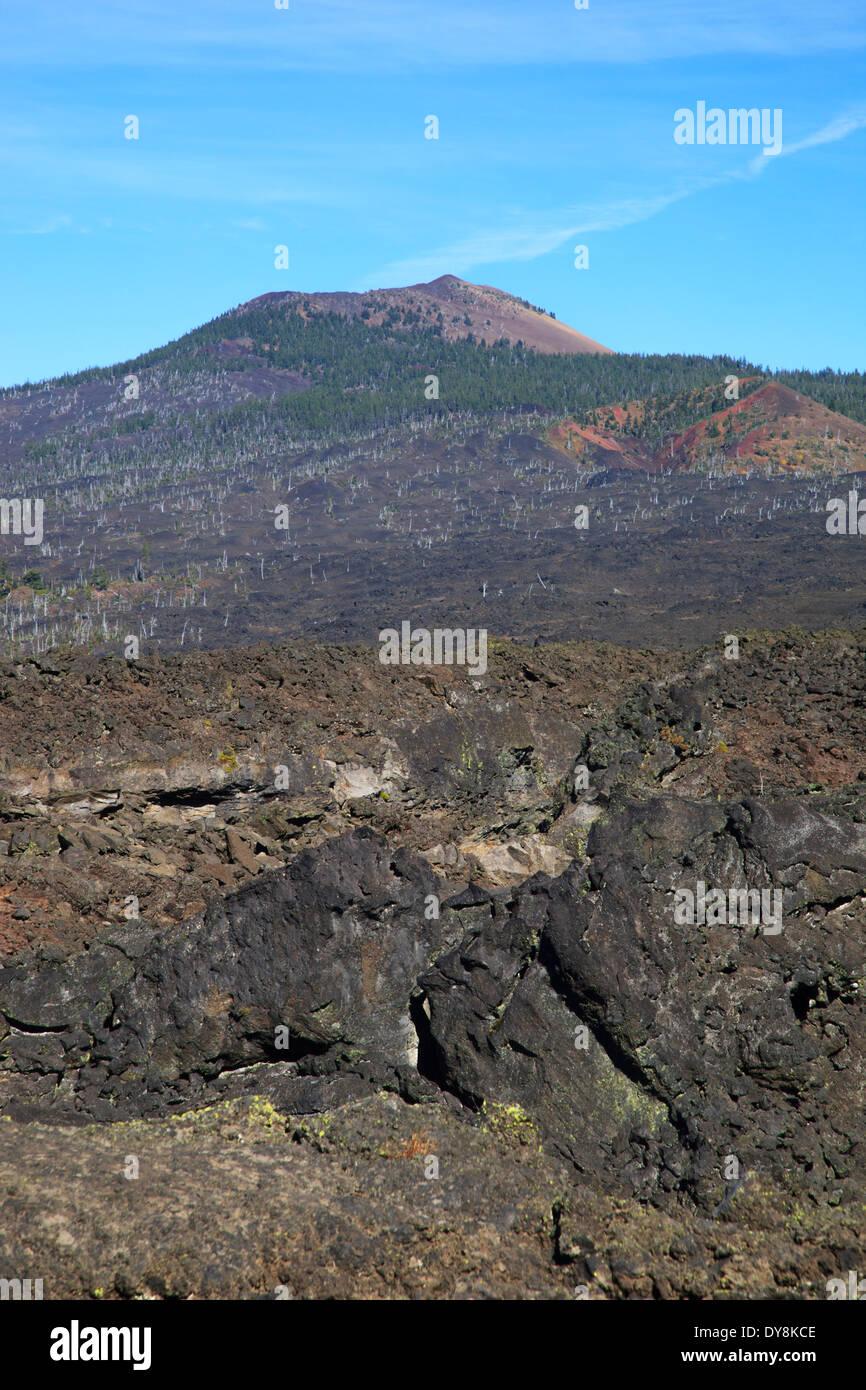 USA, Oregon, Willamette National Forest, McKenzie Pass, Belknap Crater Stock Photo