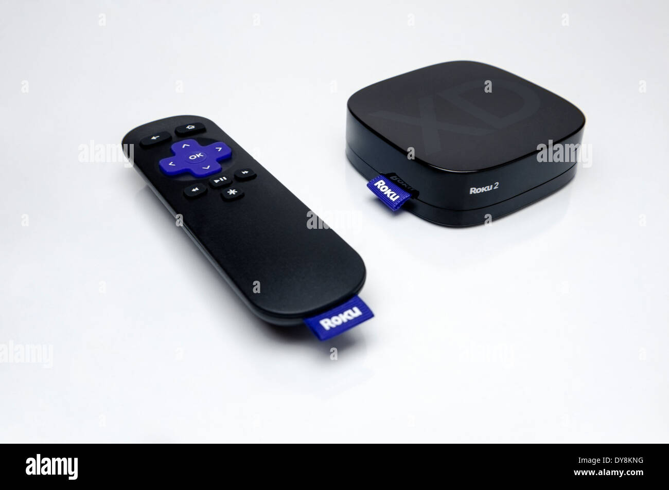 Roku 2 Streaming Player TV Digital Television Receiver with Remote Control - Stock Image