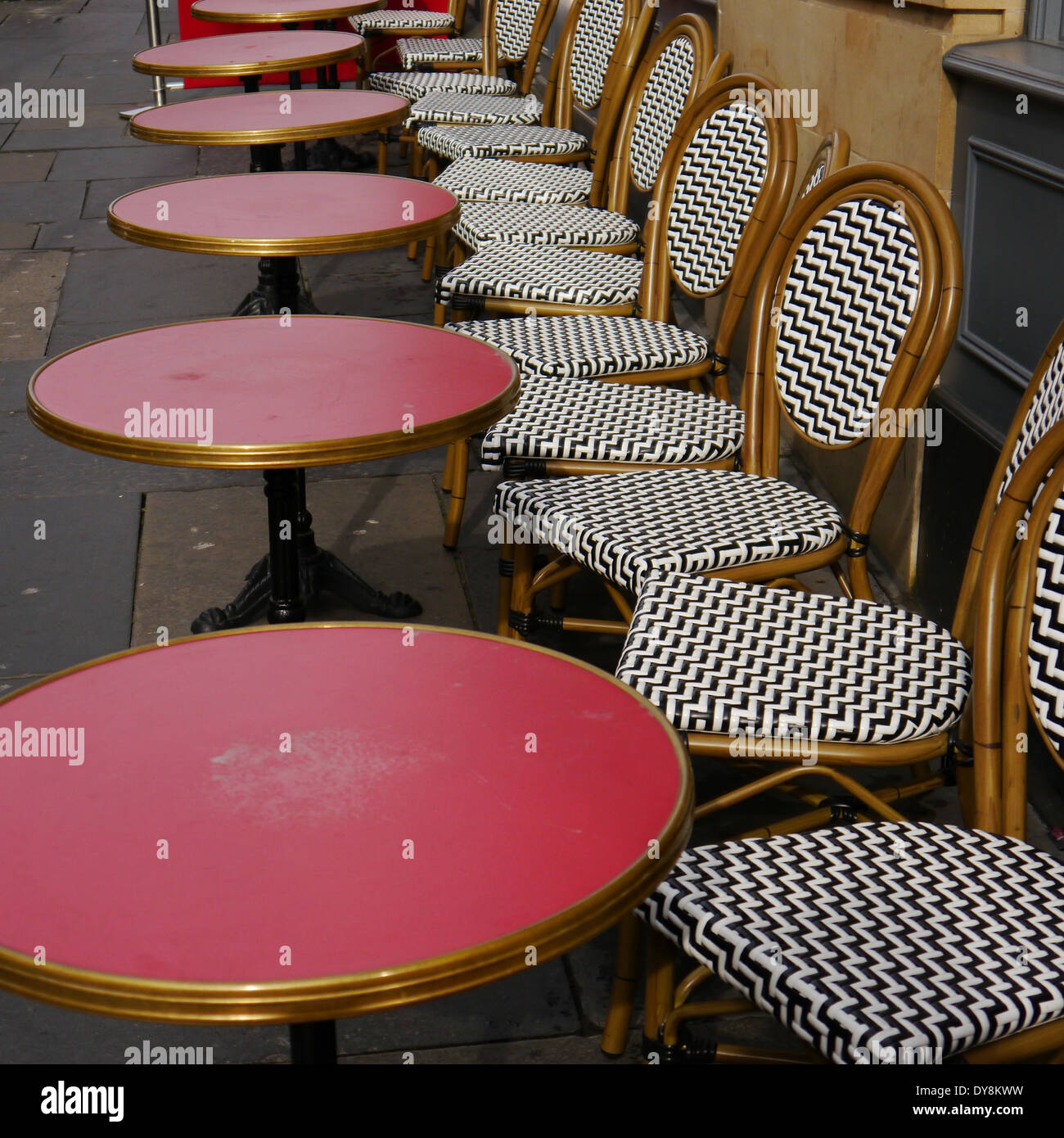 Urban Landscape   Tables And Bamboo Chairs, Cafe Rouge, Grey Street,  Newcastle Upon