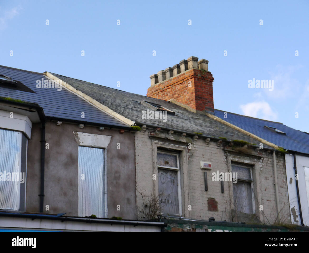 Urban dereliction, South Shields, England, UK - Stock Image