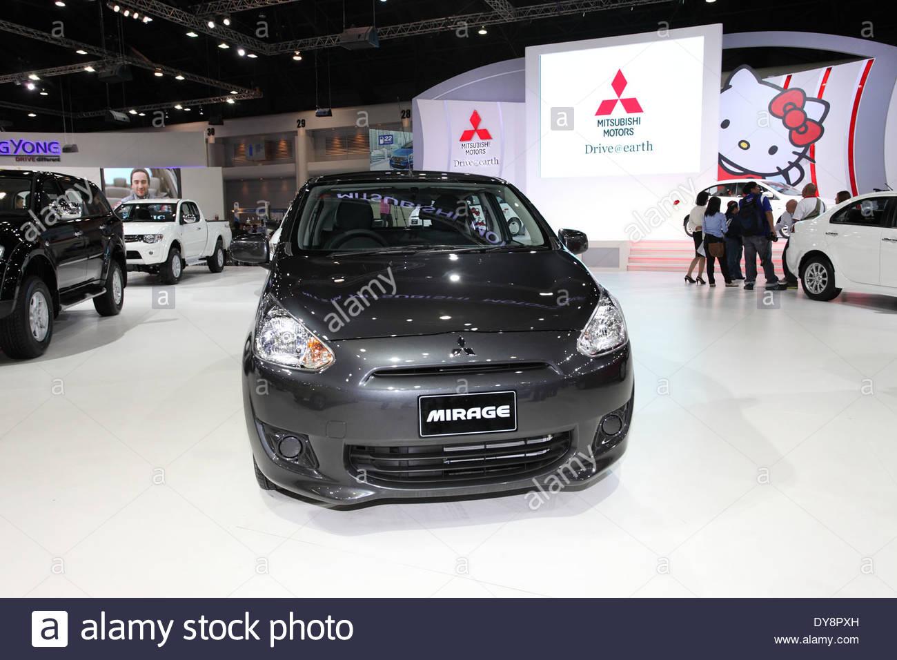 528620118 Mitsubishi Mirage car on display Stock Photo: 68420425 - Alamy
