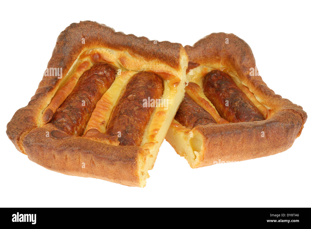 Sausage Toad in the Hole - Stock Image