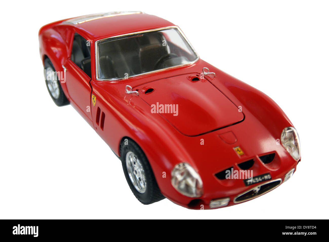 Ferrari GTO diecast model car 1962 by Burago (Bburago) isolated on a white background Stock Photo