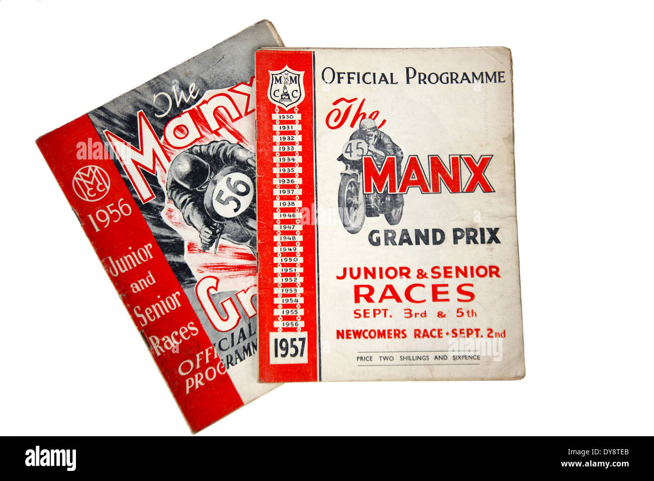 1950's Official programmes of the Manx Grand Prix - Stock Image