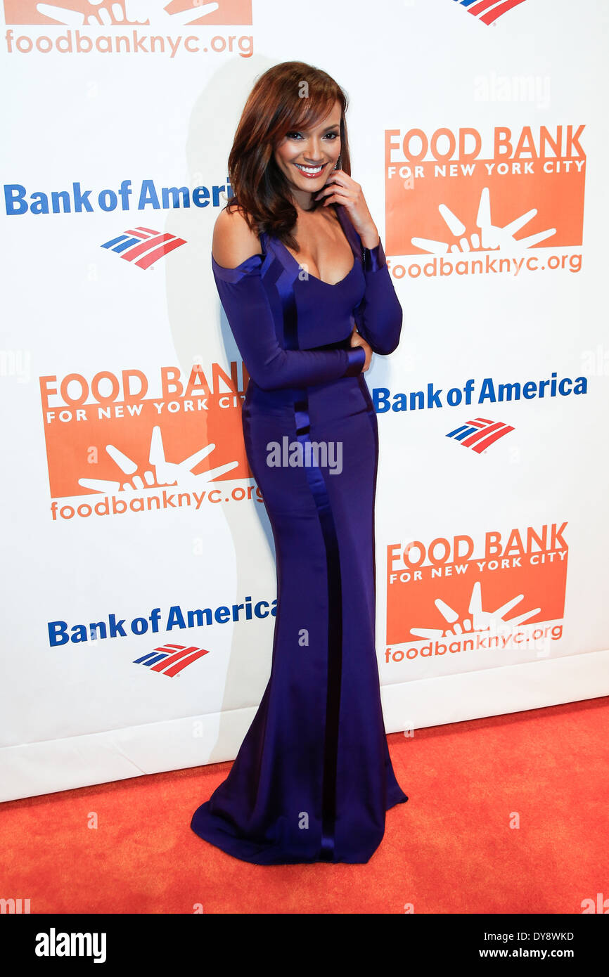 Model Selita Ebanks attends the Food Bank for New York City's Can Do Awards Dinner Gala at Cipriani Wall Street on April 9, 2014 - Stock Image
