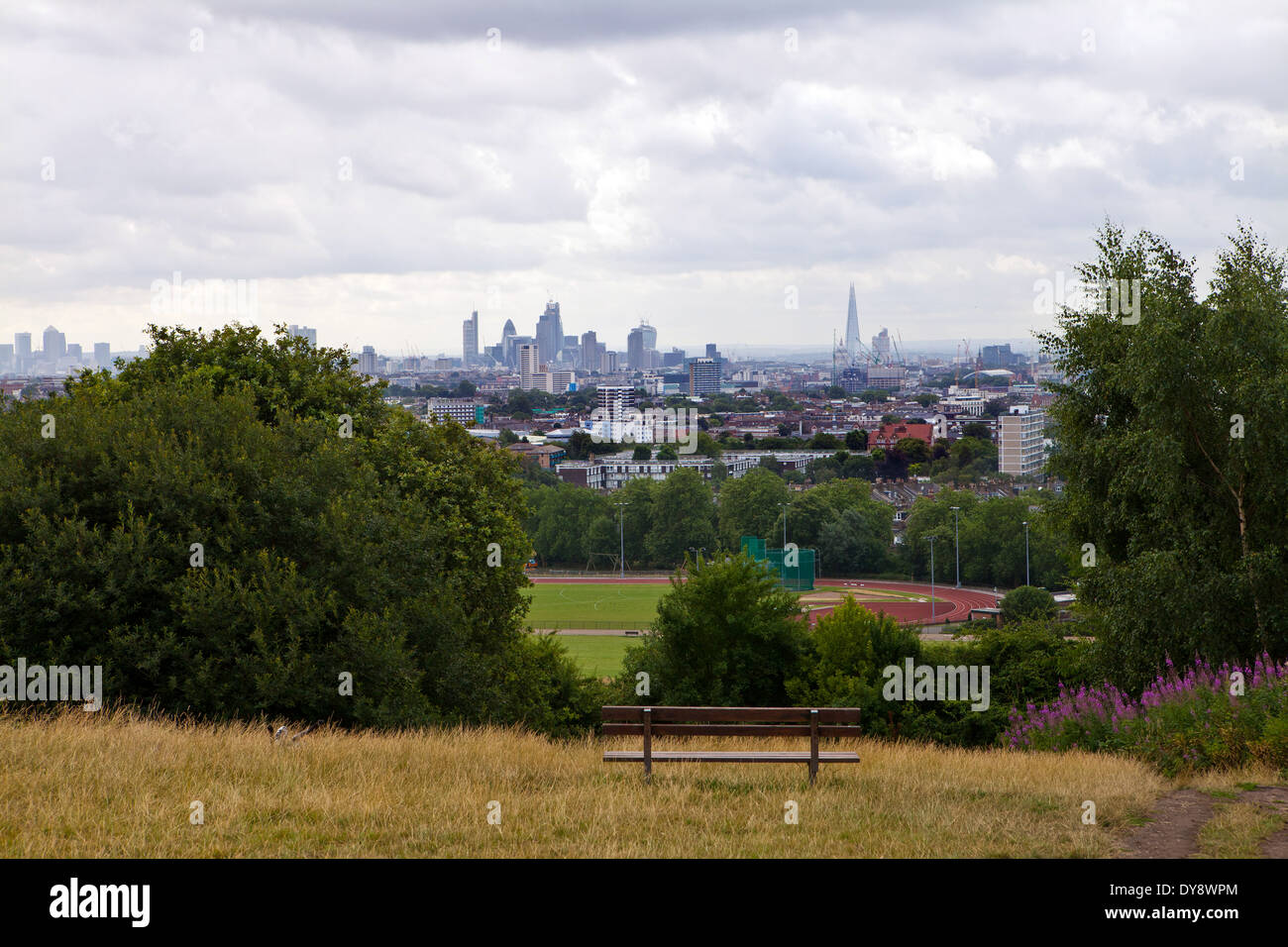 View from Parliament Hill, Hampstead Heath - Stock Image