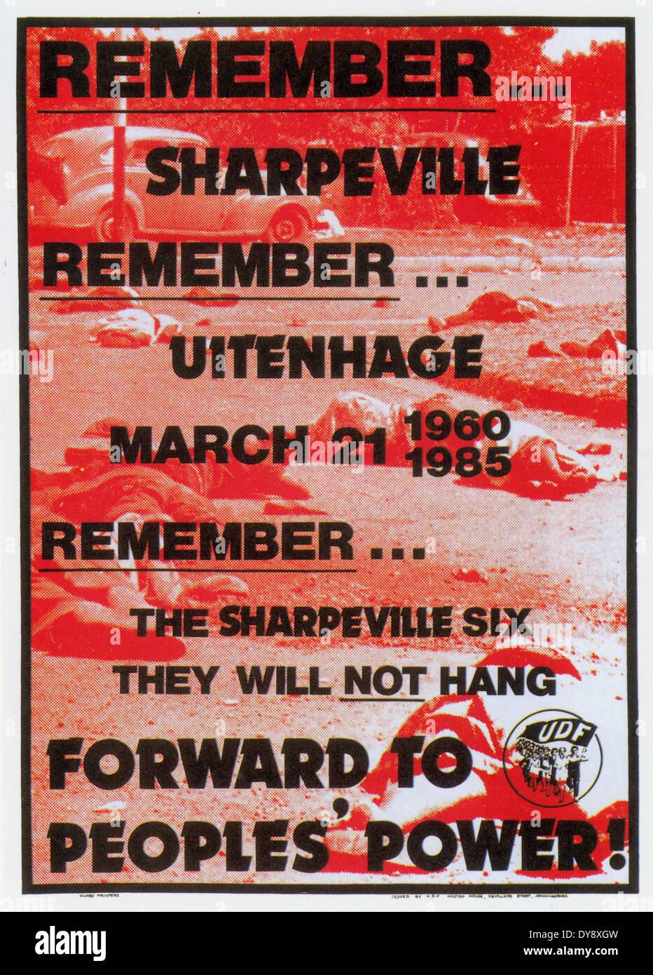 South Africa, Johannesburg 2009: Anti-apartheid posters. Graeme Williams - Stock Image