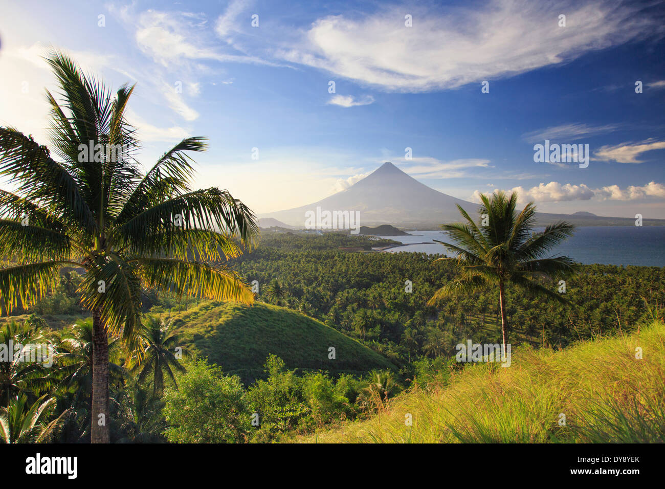 Philippines, Southeastern Luzon, Bicol, Mayon Volcano - Stock Image