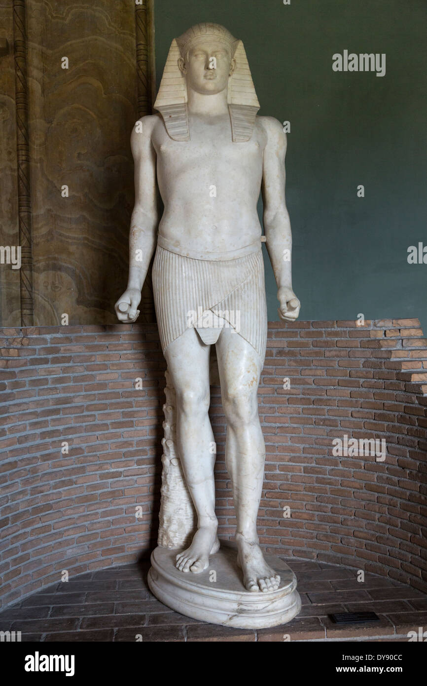 statue of Osiris/Antinous, Period of Hadrian131-138 ADCE, Gregorian Egyptian Museum, Vatican City, Rome, Italy - Stock Image
