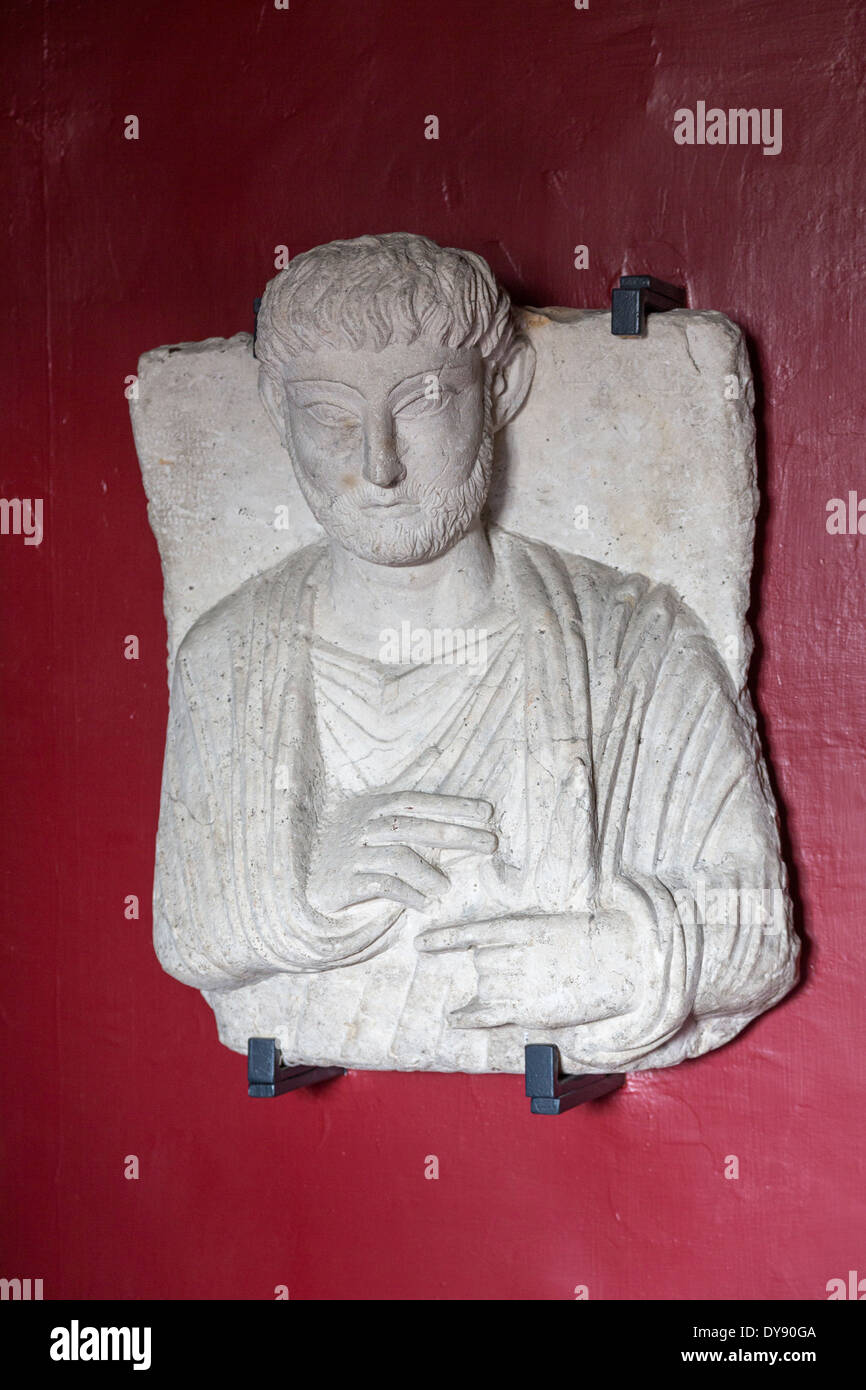 funerary bust from Palmyra, Museo Gregoriano Egizio, Vatican Museums, Rome, Italy - Stock Image