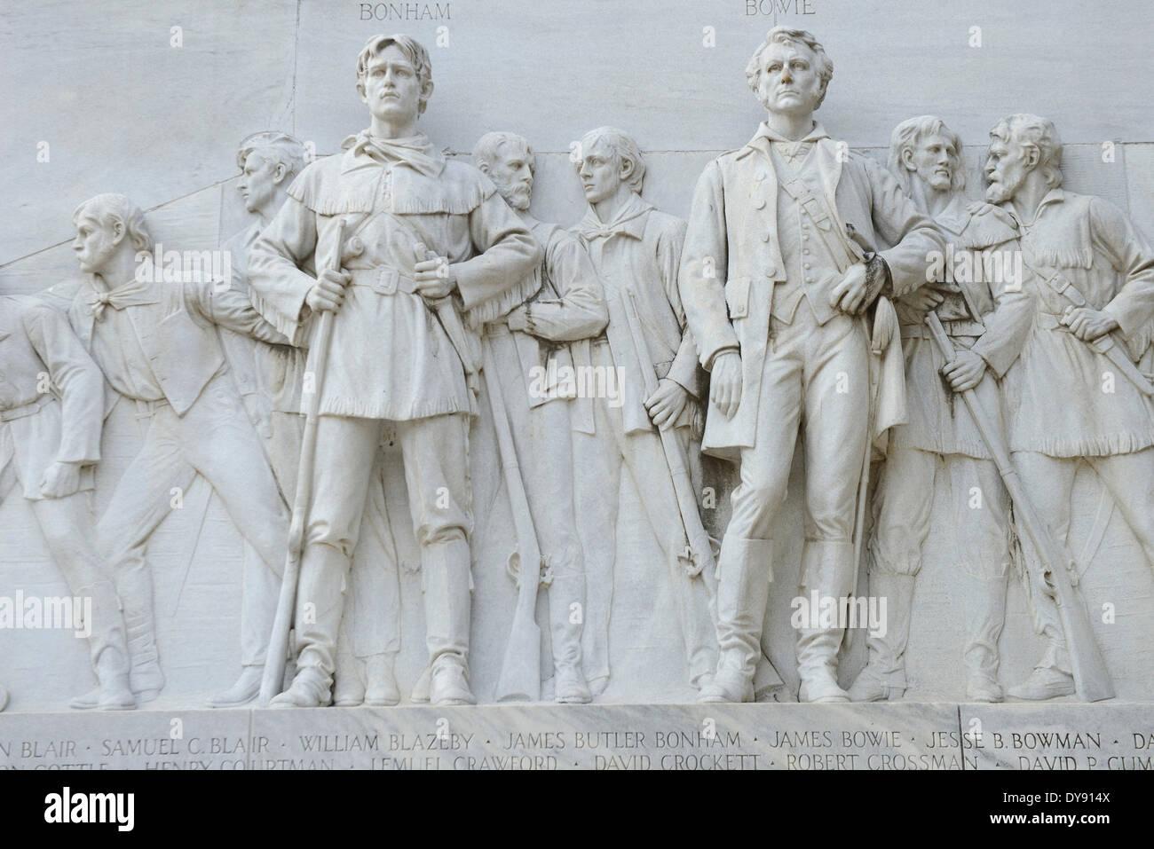 USA, United States, America, Texas, San Antonio, Alamo, monument, memorial, city, battle - Stock Image