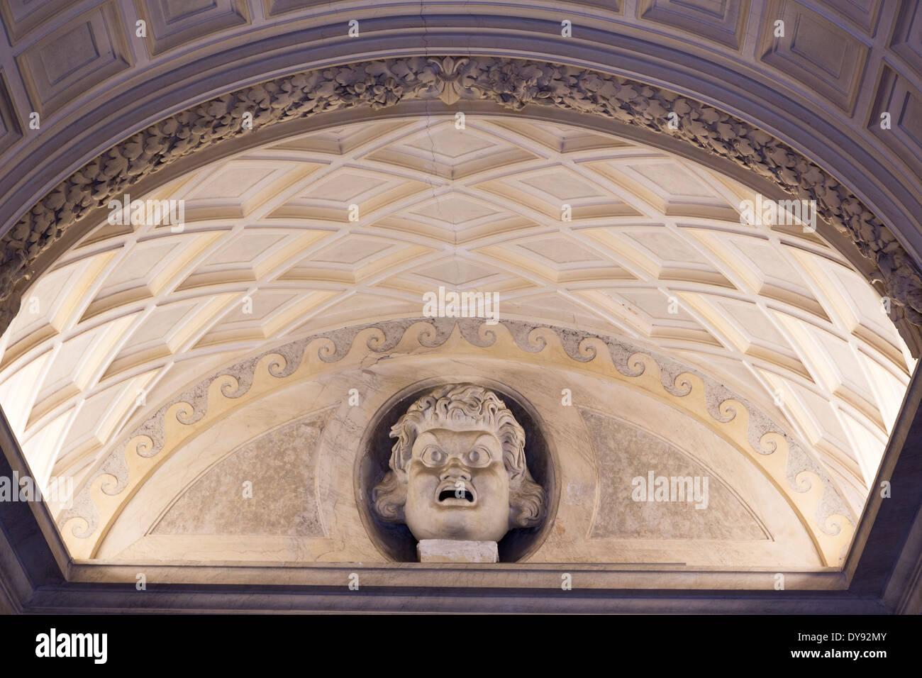 vault, gallery of Roman sculpture, Vatican Museum, Rome, Italy - Stock Image