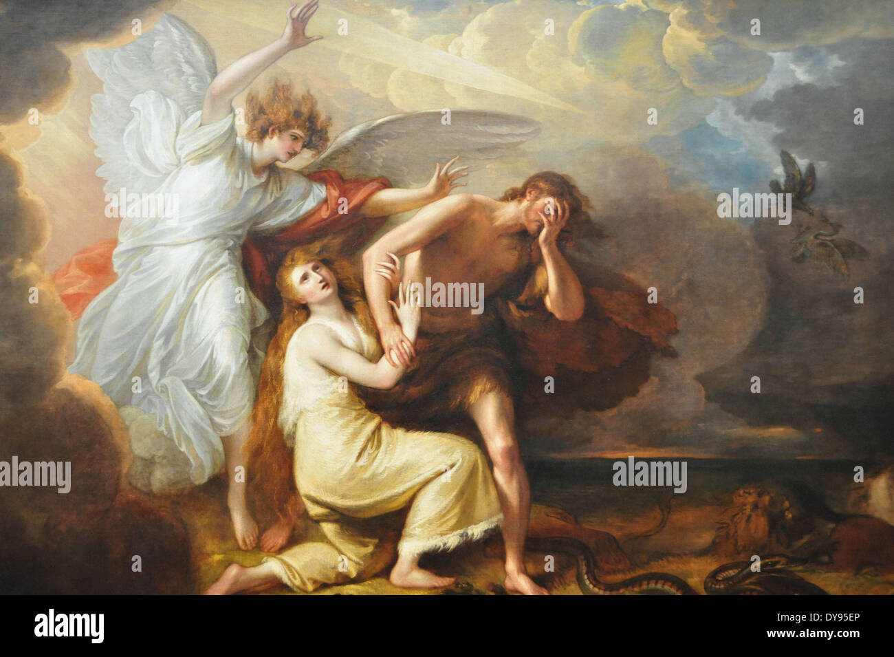 Benjamin West The Expulsion of Adam and Eve from Paradise - Stock Image