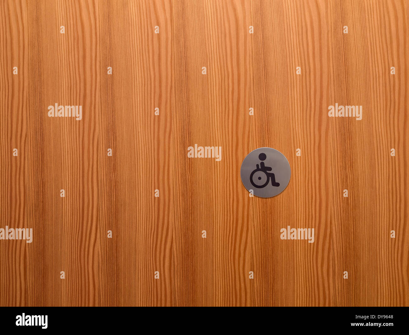 Sign wheelchair user - Stock Image