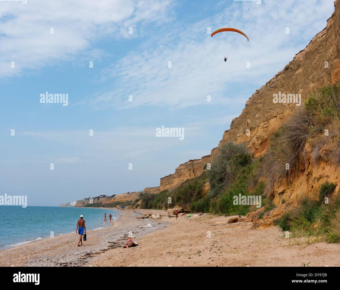 The Black sea coast in Crimea Ukraine - Stock Image
