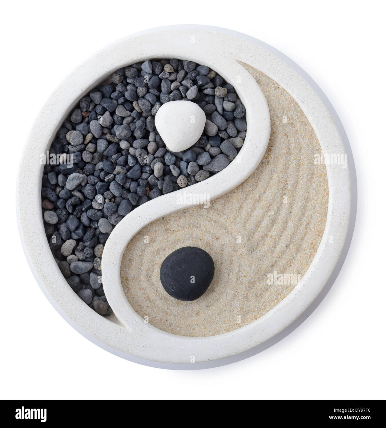 Yin Yang Symbol Cut Out Stock Images Pictures Alamy