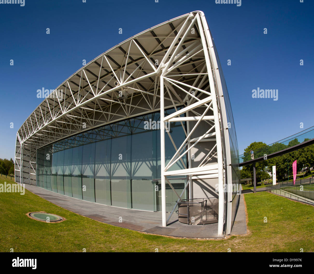 UK, England, Norfolk, Norwich, Sainsbury Centre for Visual Arts, by Norman Foster - Stock Image