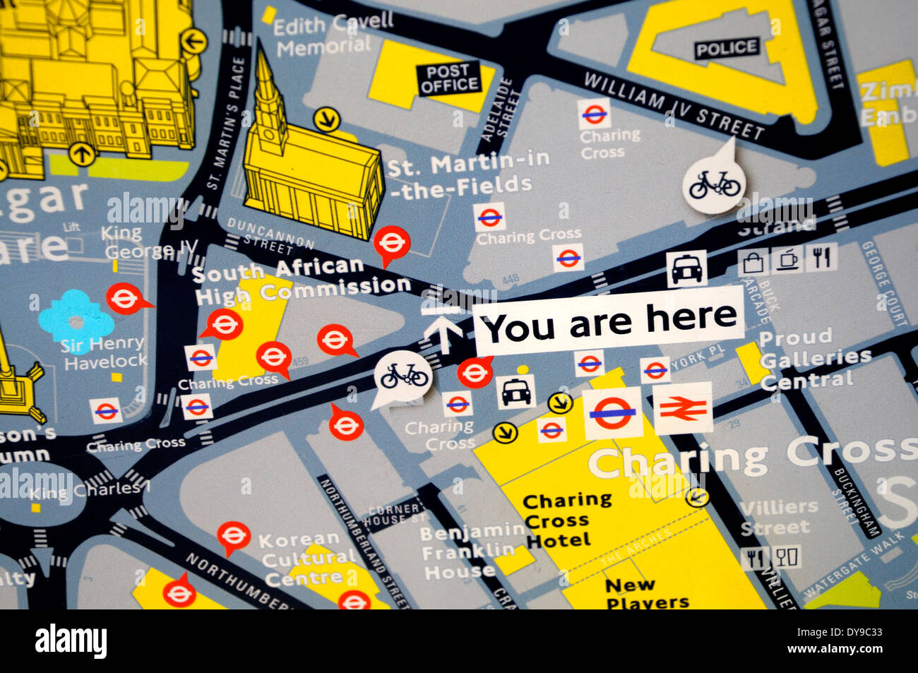Tourist Map London.London England Uk Tourist Map You Are Here By Charing Cross