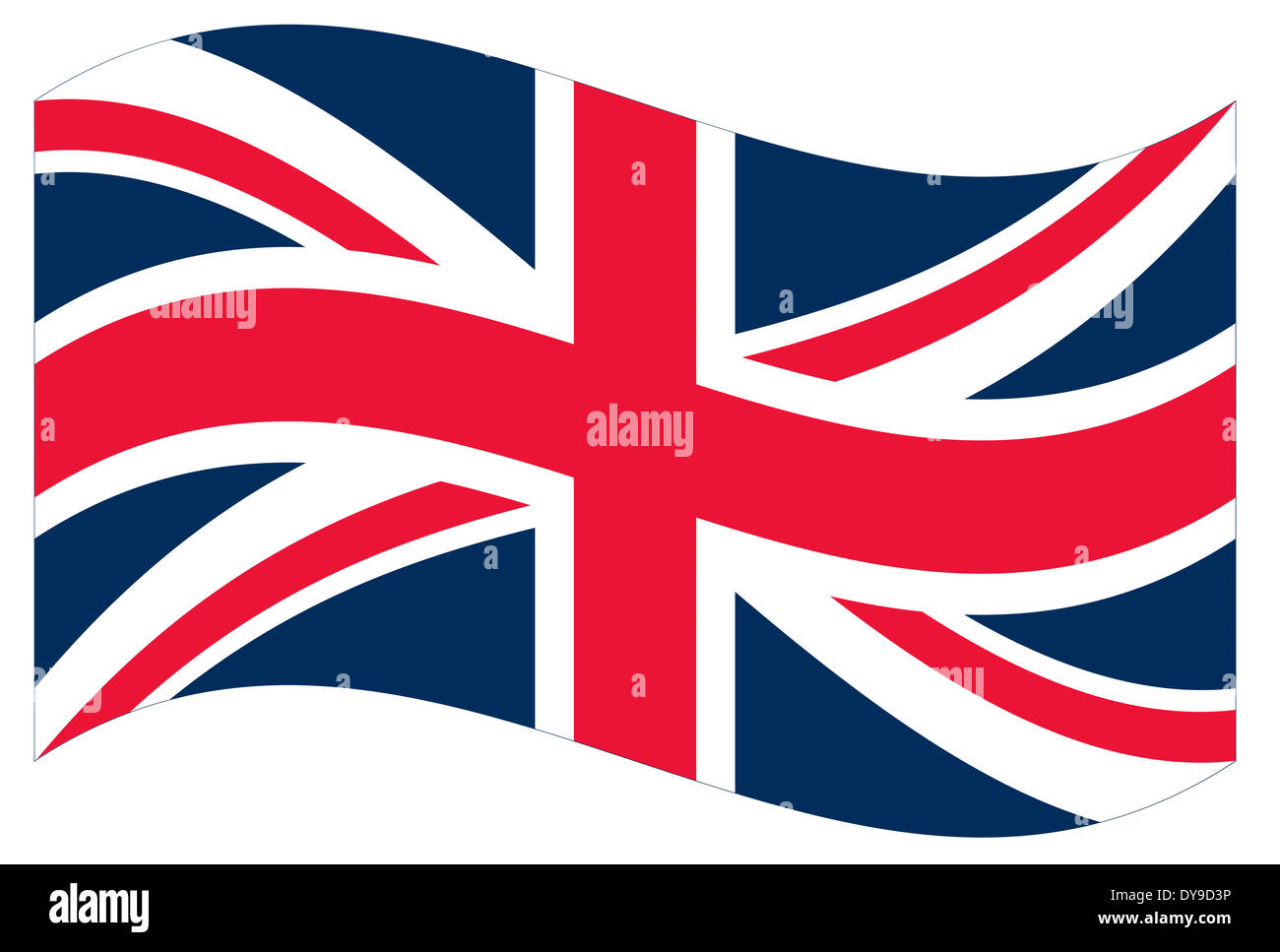 Vector flag. Great Britain - Stock Image