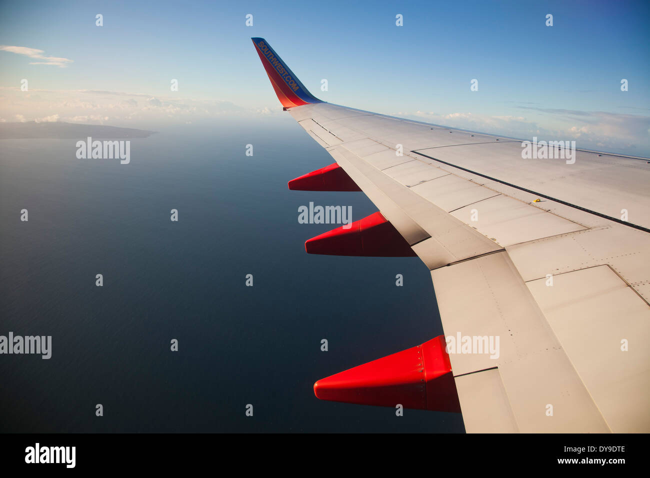 Take off from LAX International airport - Stock Image