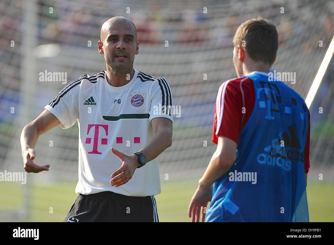 Cheftrainer Pep Guardiola (FC Bayern Muenchen) Fussball - for editorial use only - Stock Image