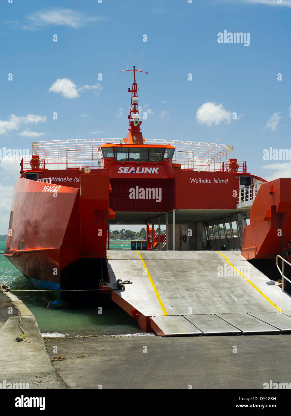 The Sealink Ferry Seacat Prepares To Load Vehicles At The