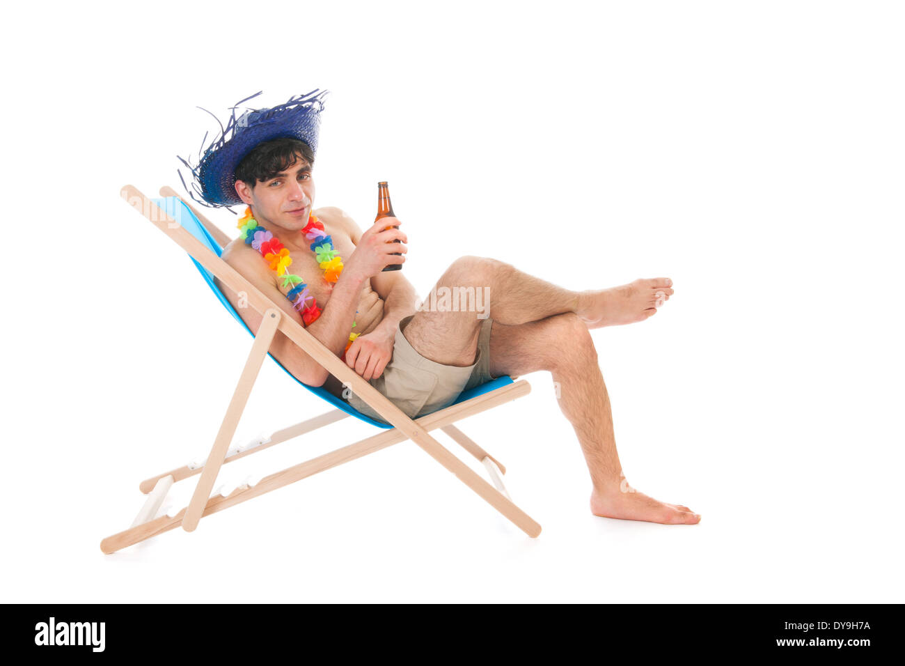 Sitting In Beach Chair High Resolution Stock Photography And Images Alamy