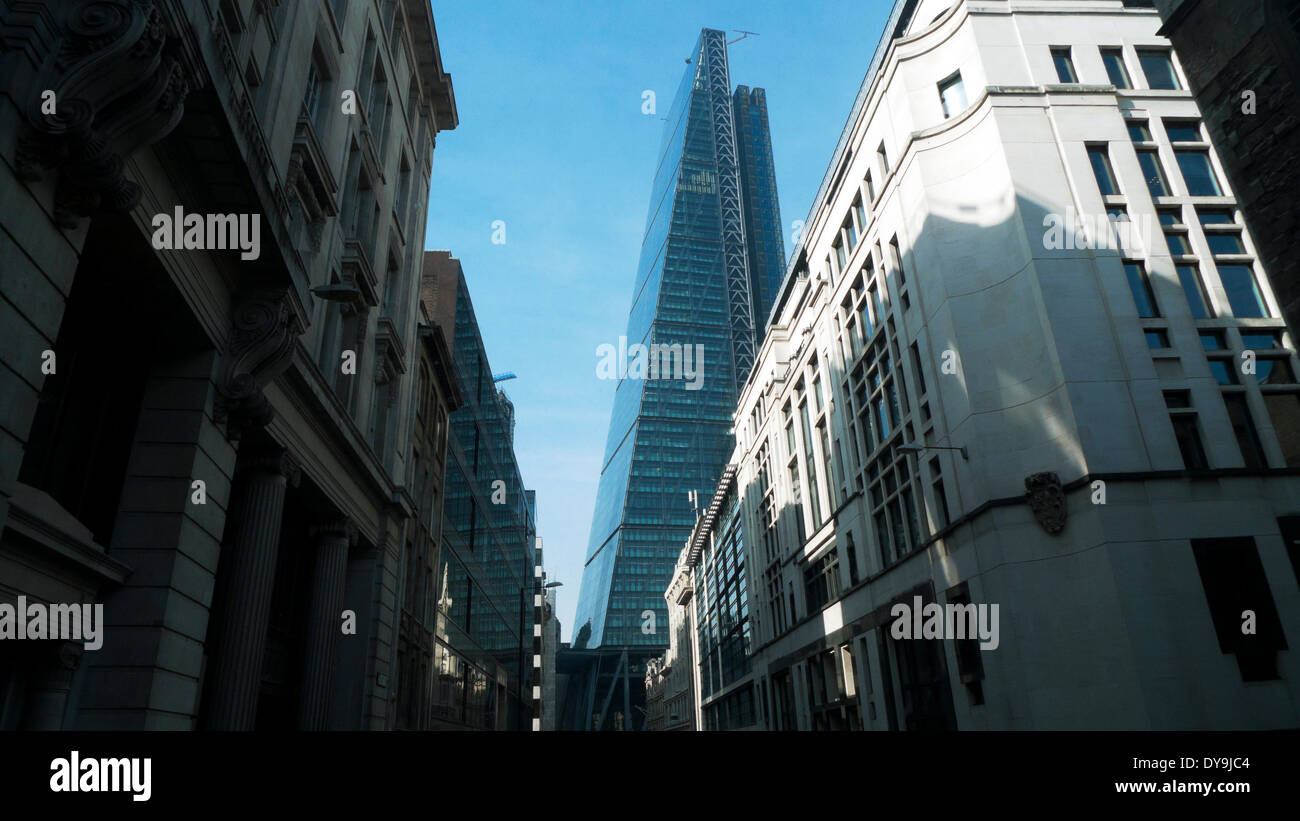 The cheesegrater building at 122 Leadenhall Street in the City London UK  KATHY DEWITT - Stock Image