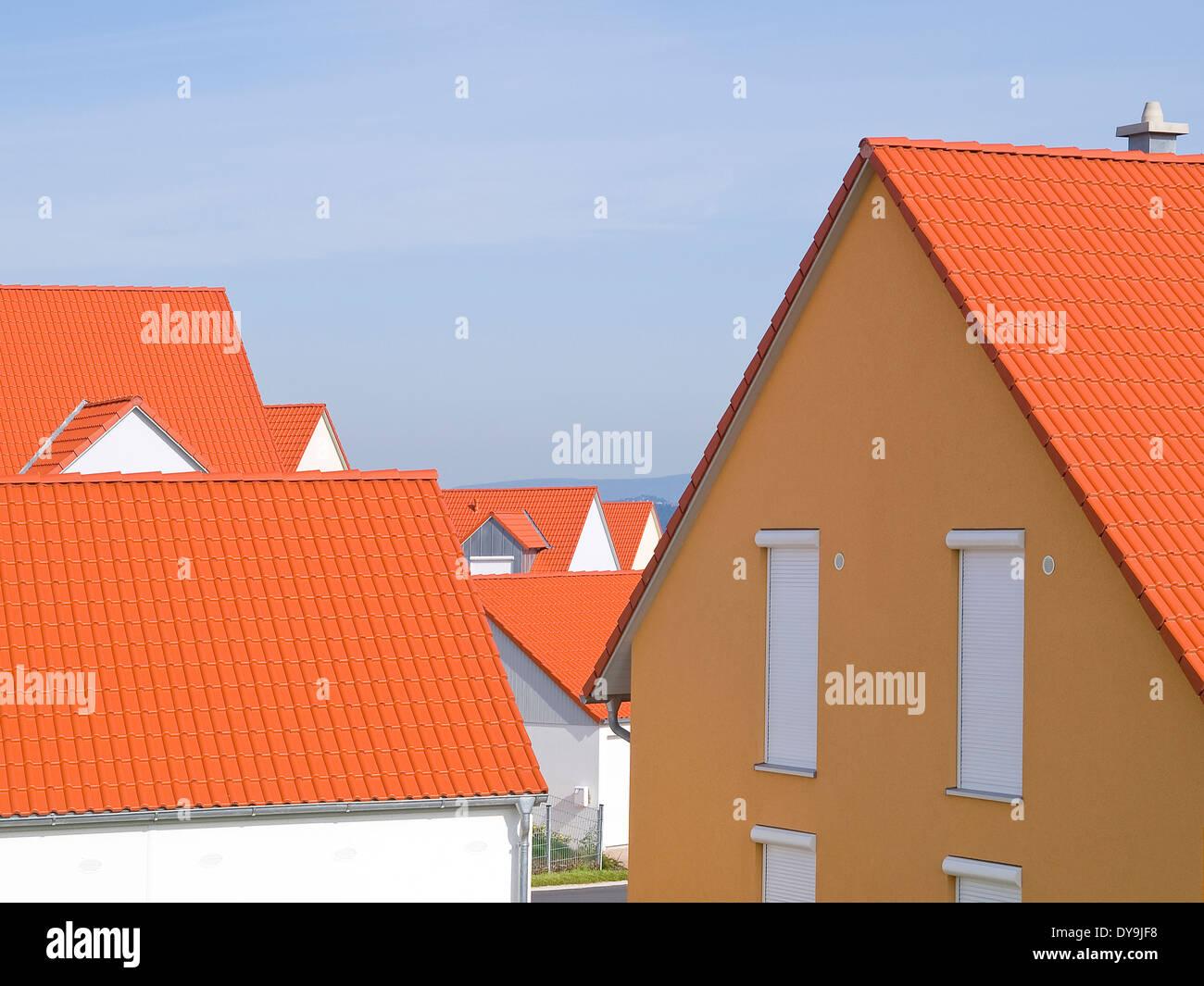 Residential area Netzaberg, Eschenbach in der Oberpfalz, Bavaria, Germany - Stock Image