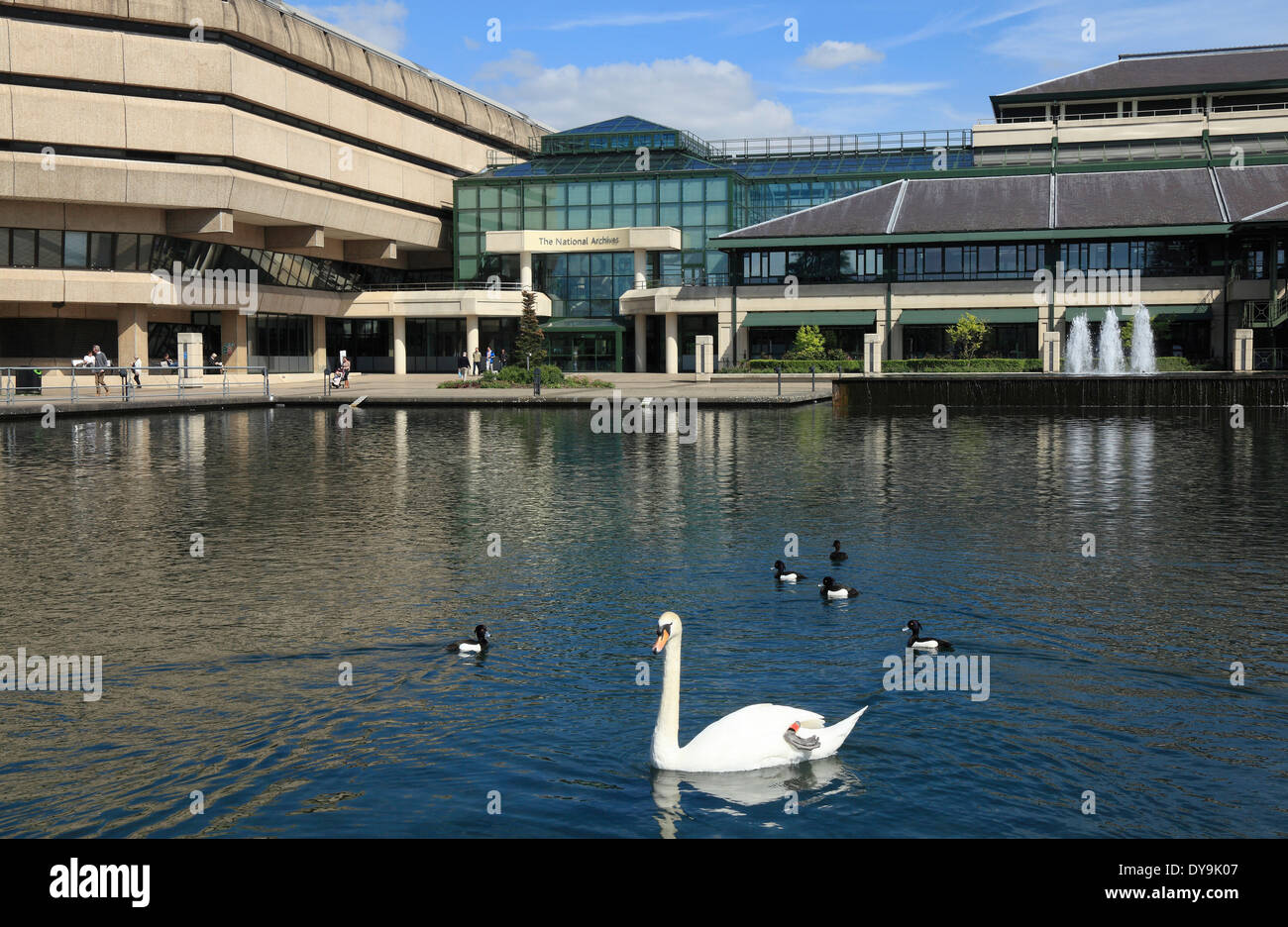 The National Archives Building at Kew in London UK - Stock Image