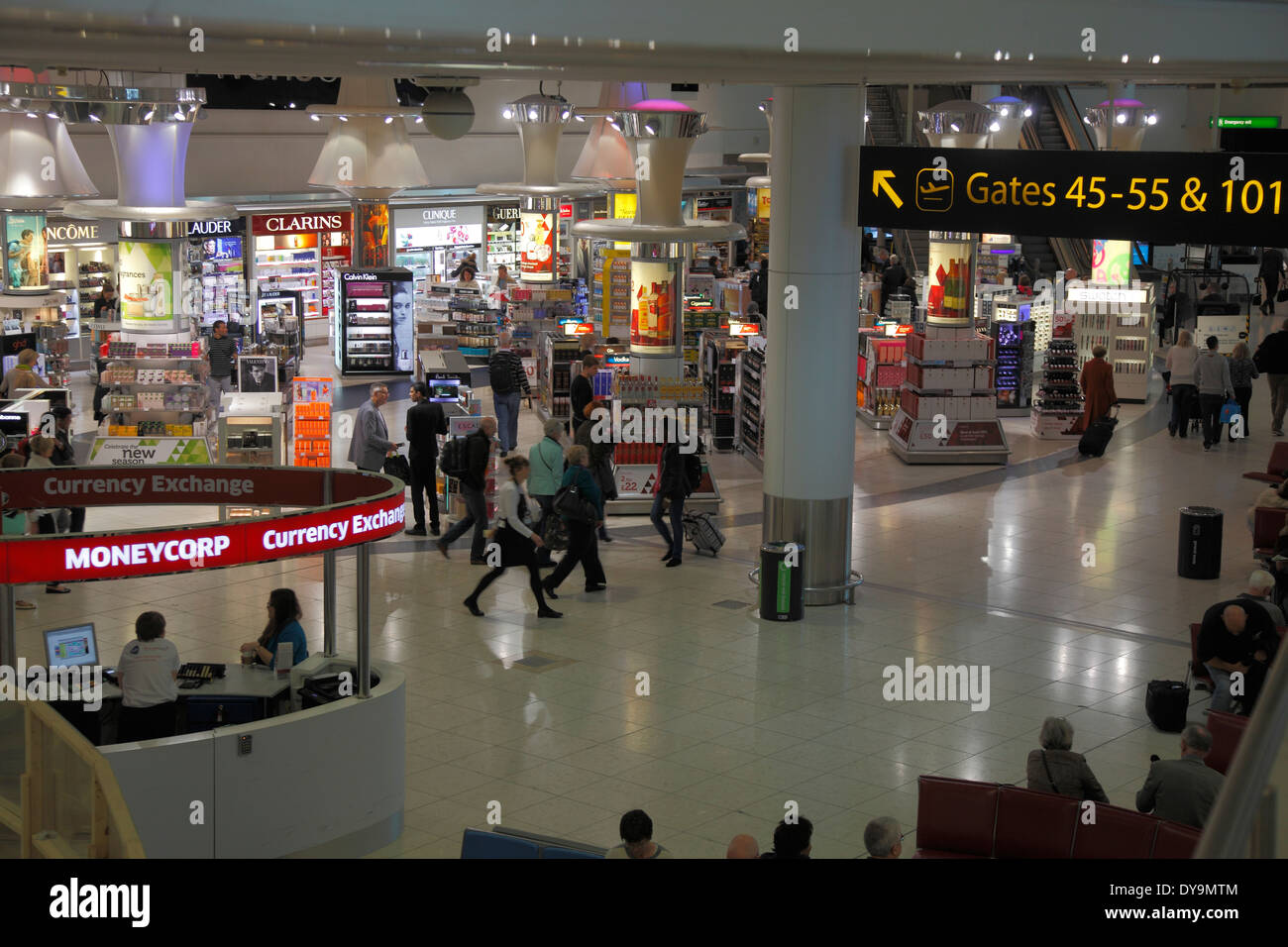 Duty Free Shops at Gatwick Airport - Stock Image