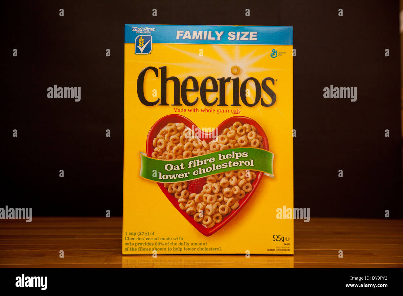 Cheerios is an American brand of breakfast cereals manufactured by General Mills. - Stock Image