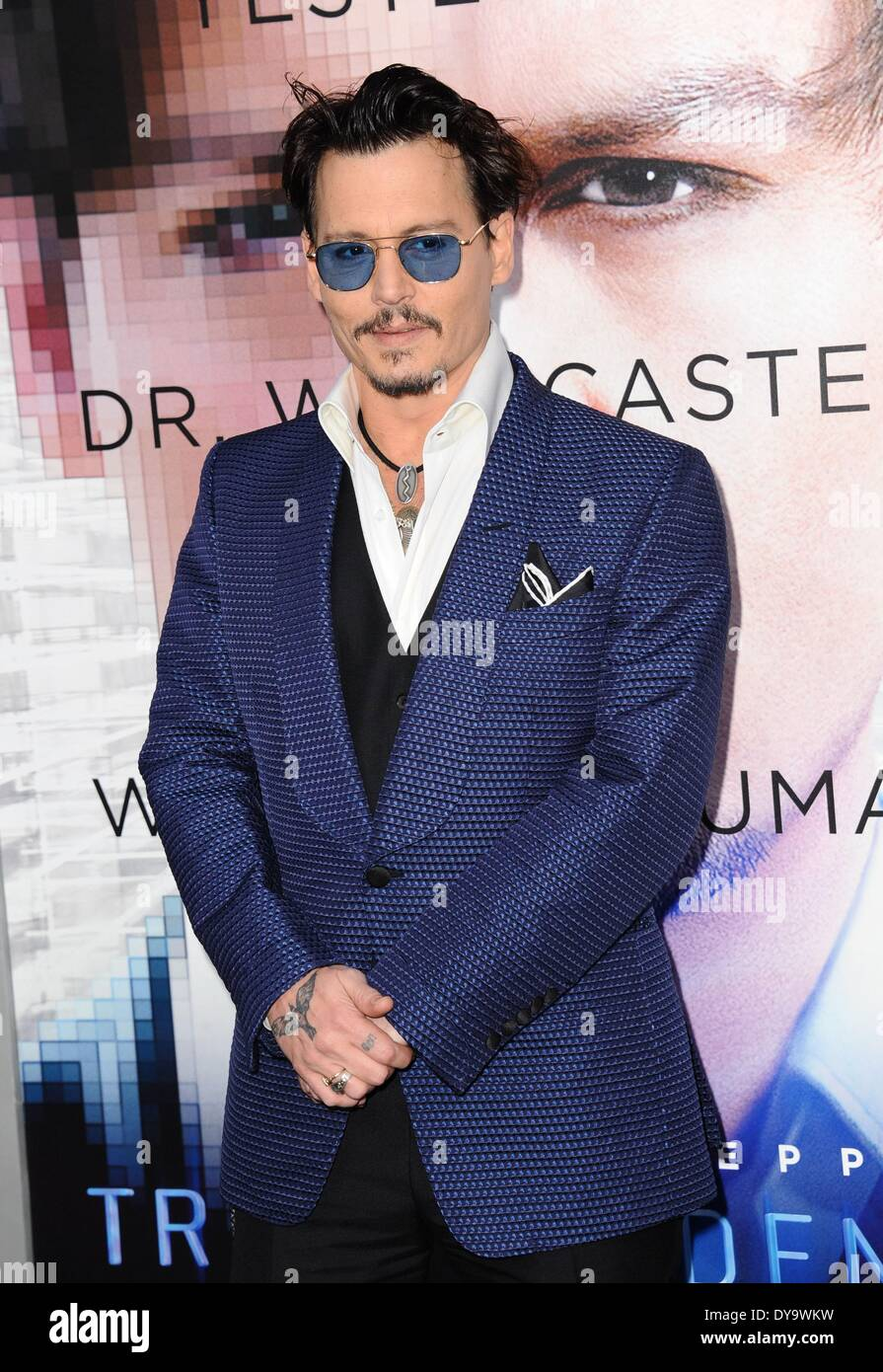 Los Angeles, CA, USA. 10th Apr, 2014. Johnny Depp at arrivals for TRANSCENDENCE Premiere, The Regency Village Theatre, Los Angeles, CA April 10, 2014. Credit:  Dee Cercone/Everett Collection/Alamy Live News - Stock Image