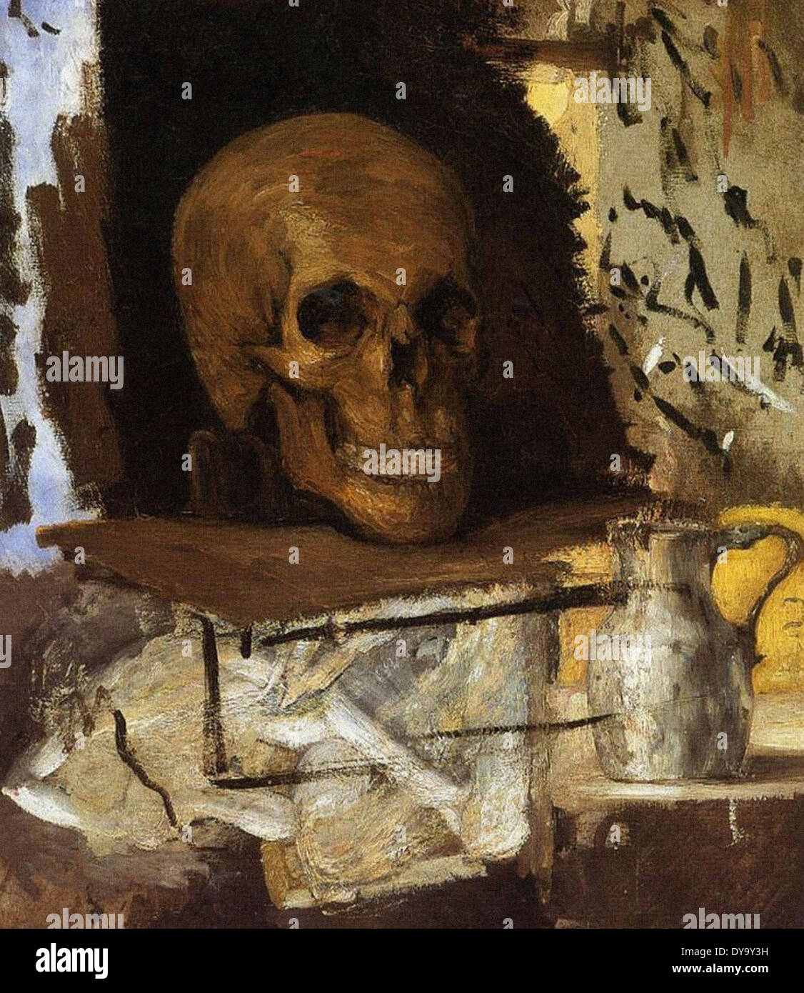 Paul Cezanne Still Life - Skull and Waterjug - Stock Image