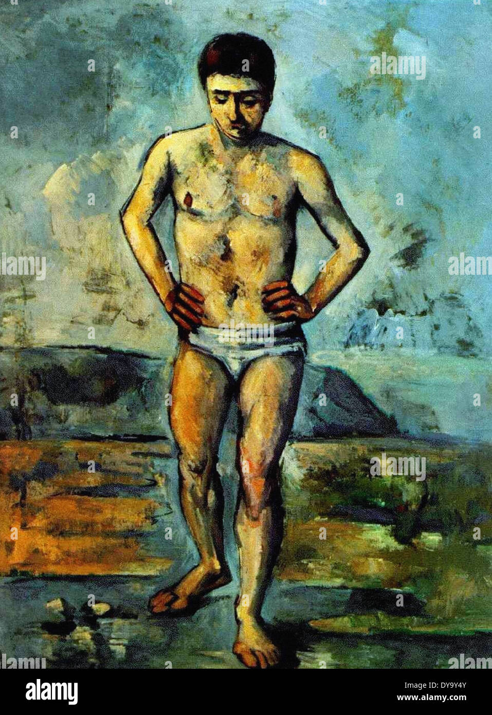 Paul Cezanne The Bather - Stock Image