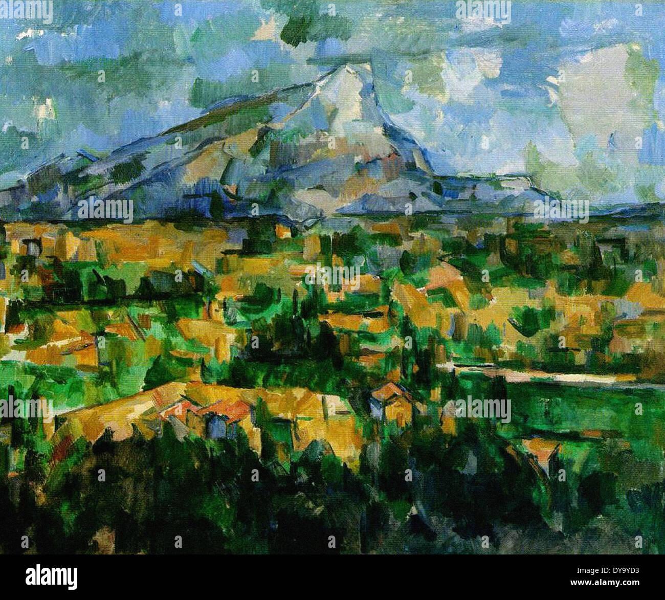 Paul Cezanne Mont Sainte-Victoire 3 - Stock Image