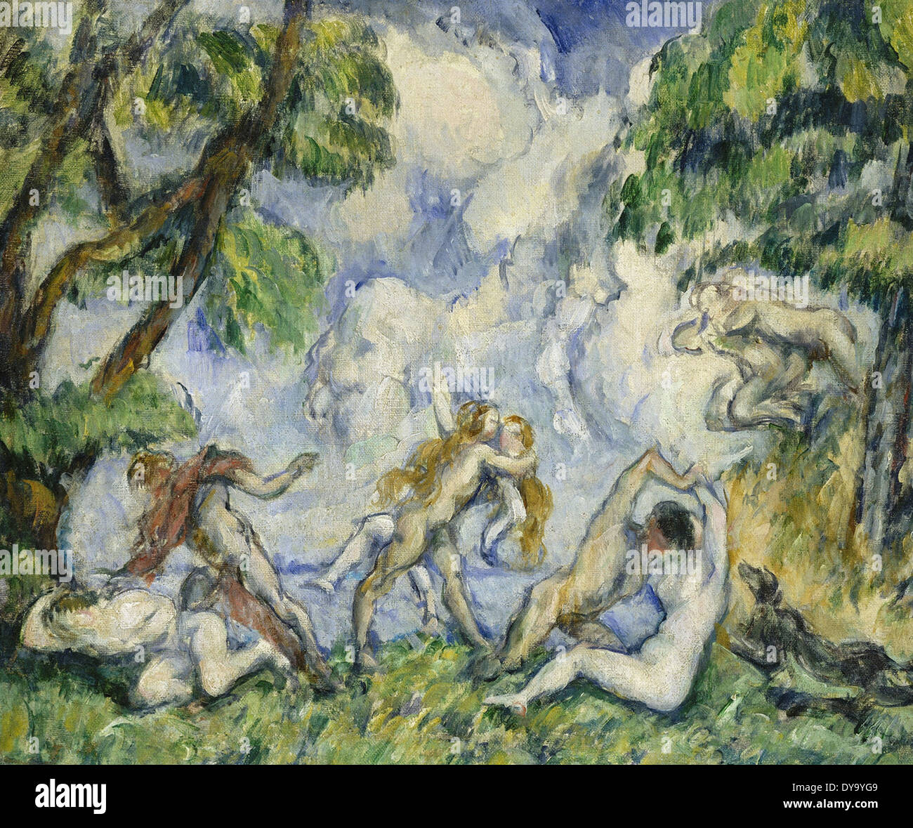 Paul Cezanne The Battle of Love - Stock Image