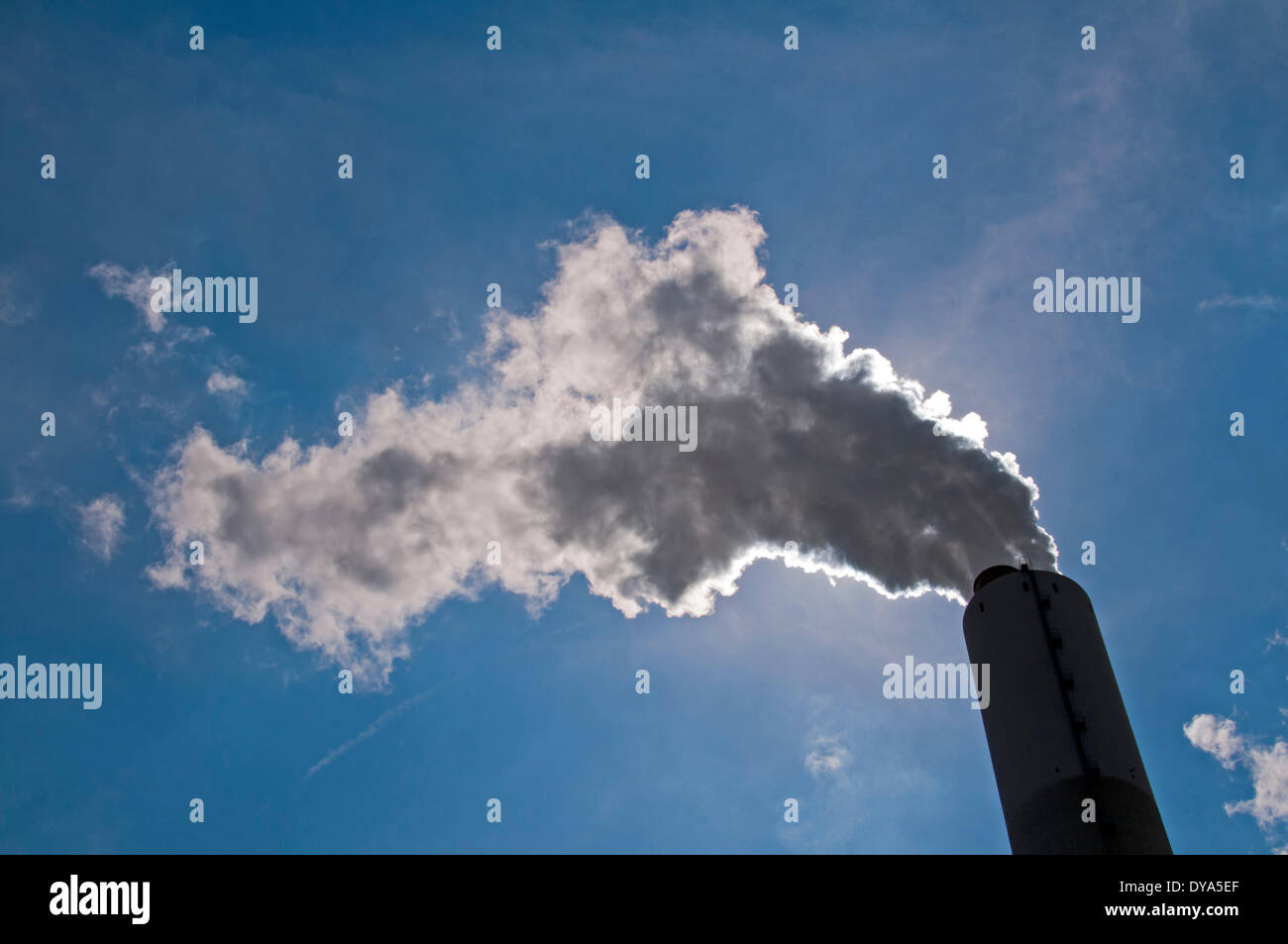 Germany Duisburg Europe EVONIK coal-fired power station power station energy Nordrhein Westphalia Rhine Ruhr area STEAG Walsum, - Stock Image