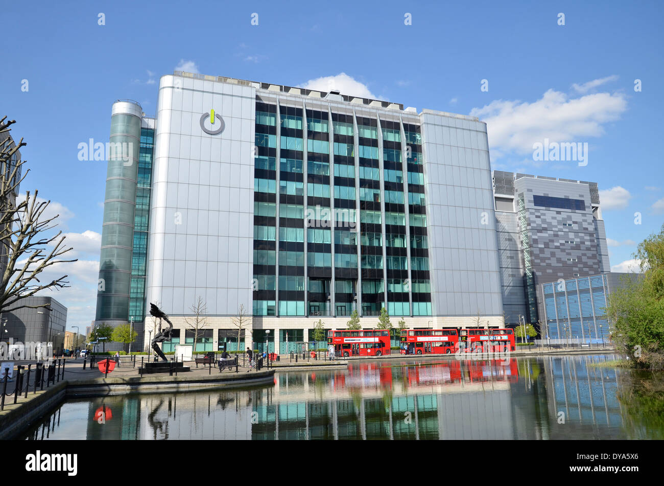 The Global Switch offices in East India Docks, east London Stock Photo