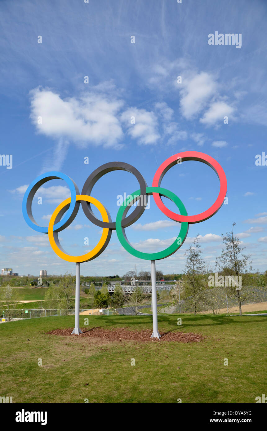 The Olympic Rings Symbol At The Queen Elizabeth Olympic Park In