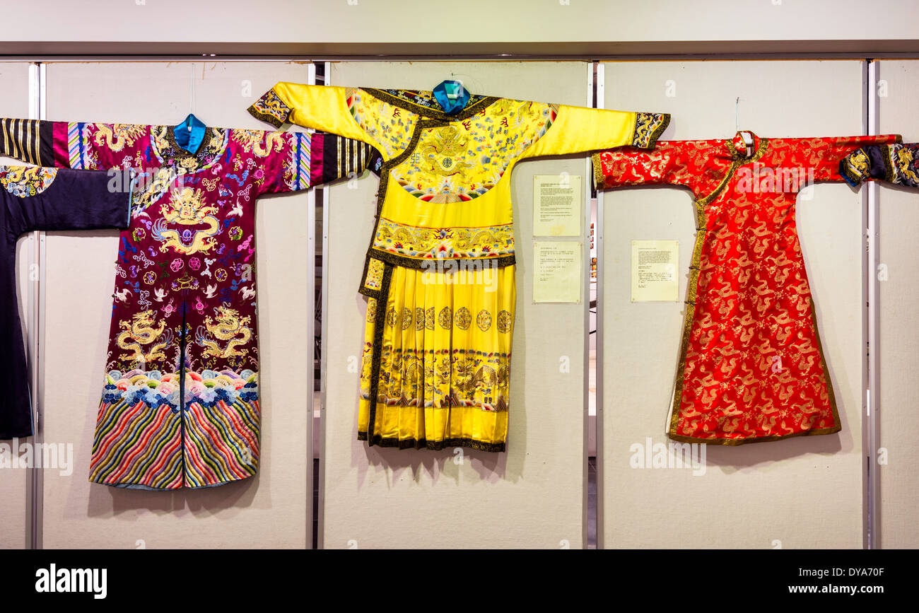Emperors Robes of the Qing Dynasty on display at Chinese Artifacts Museum at Calgary Chinese Cultural Centre in Calgary, Alberta - Stock Image