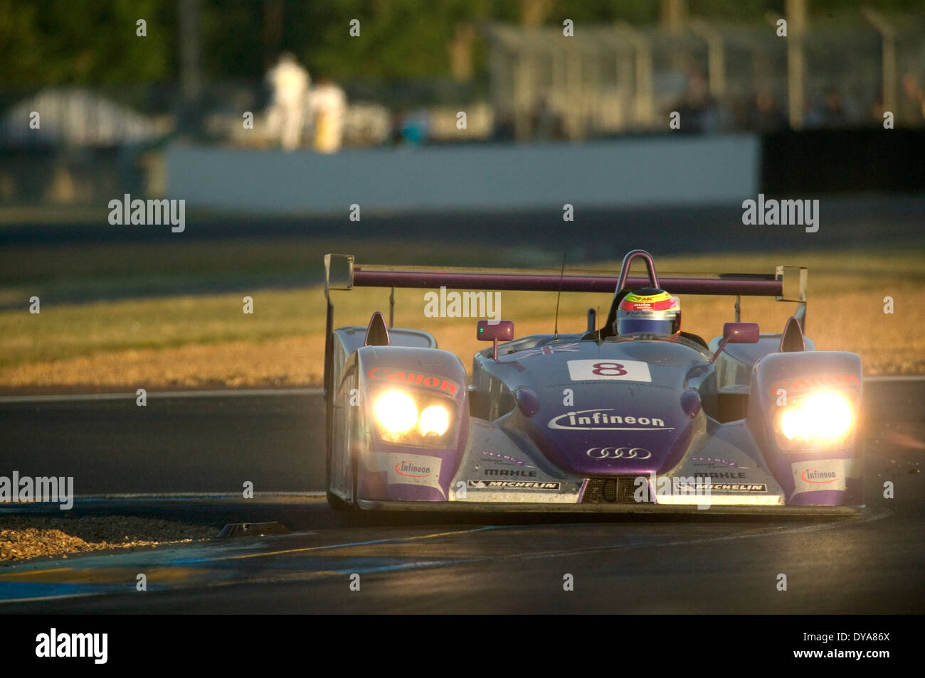Audi R8 Audi sport UK 2004 le mans 24 hour race. - Stock Image