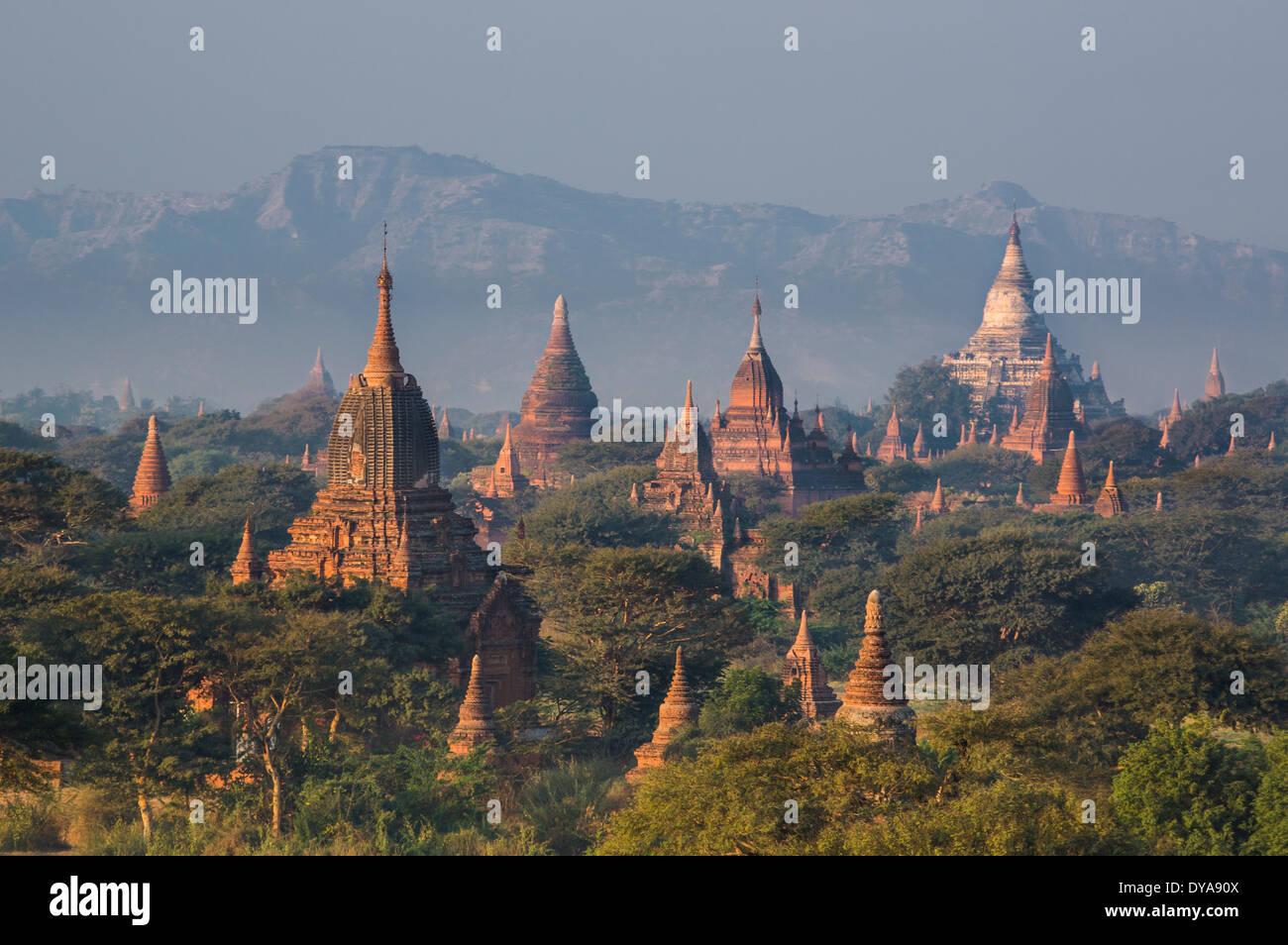 architecture, Bagan, Mandalay, Myanmar, Burma, Asia, famous, history, skyline, temple, tourism, touristic, travel Stock Photo
