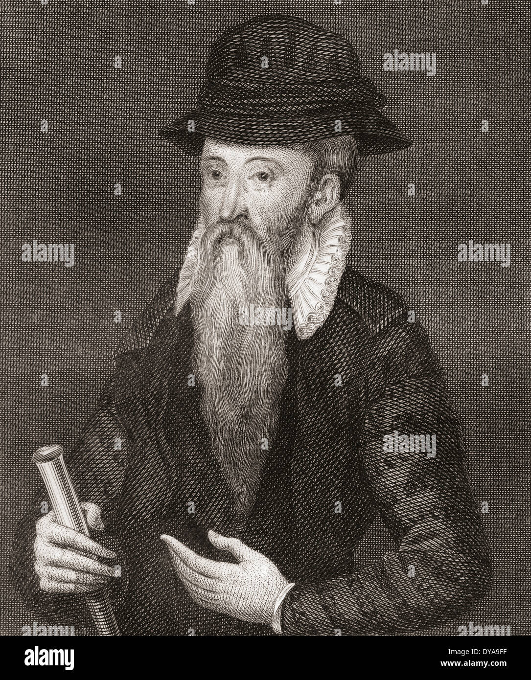John Erskine, 17th Earl of Mar, ? -1572. Regent of Scotland. - Stock Image