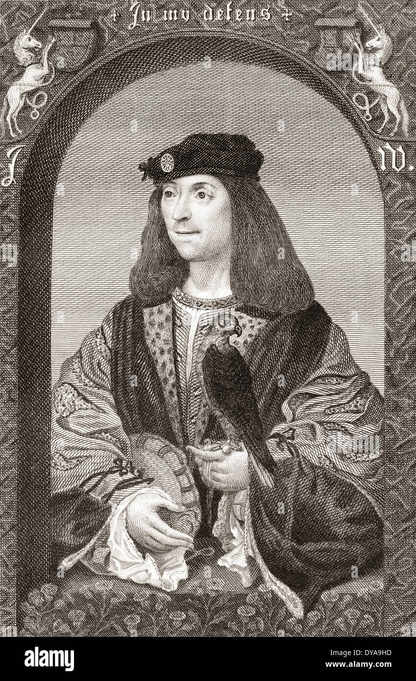 James IV, King of Scots, 1473 – 1513. - Stock Image