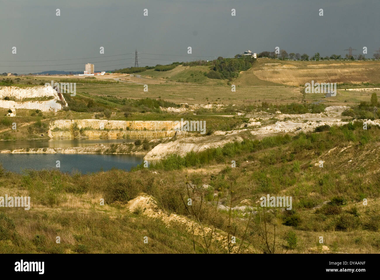 Ebbsfleet Valley Kent, the quarry site of the proposed new Garden ...