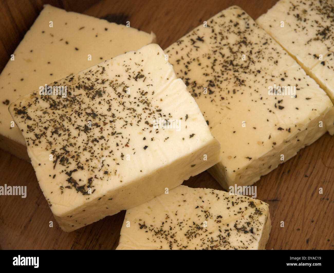 food, Italian, herb cheese, food, groceries, cheese - Stock Image