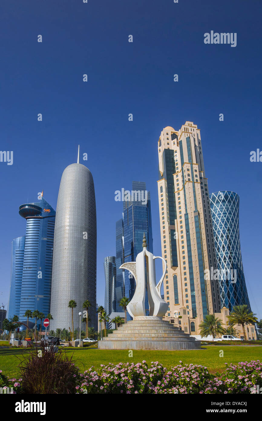 Burj Doha Qatar Middle East Tea World Trade Center Architecture Bay