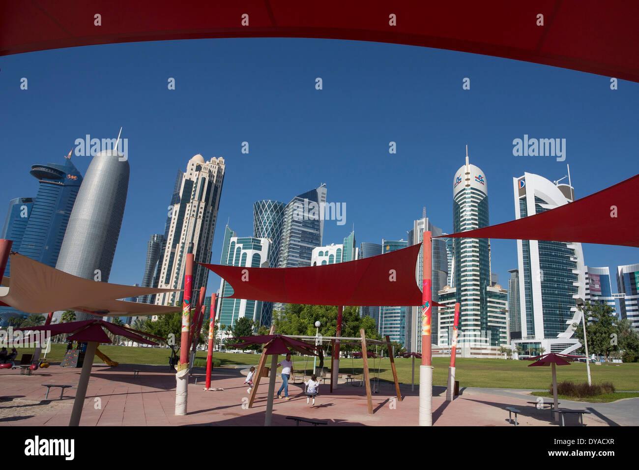 Burj Doha Qatar Middle East World Trade Center Architecture Bay