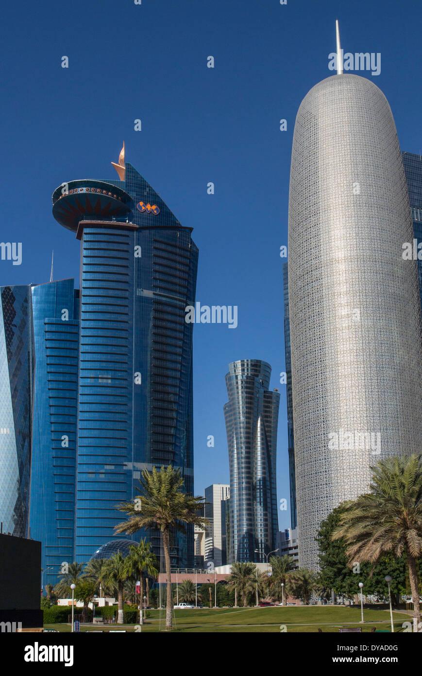 Burj Doha Qatar Middle East World Trade Center Architecture Bay City